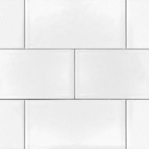 White 3x6 Shiny Glossy Ceramic Subway