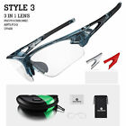RockBros Photochromic Cycling Glasses Polarized Lens Sports Goggles Eyewear