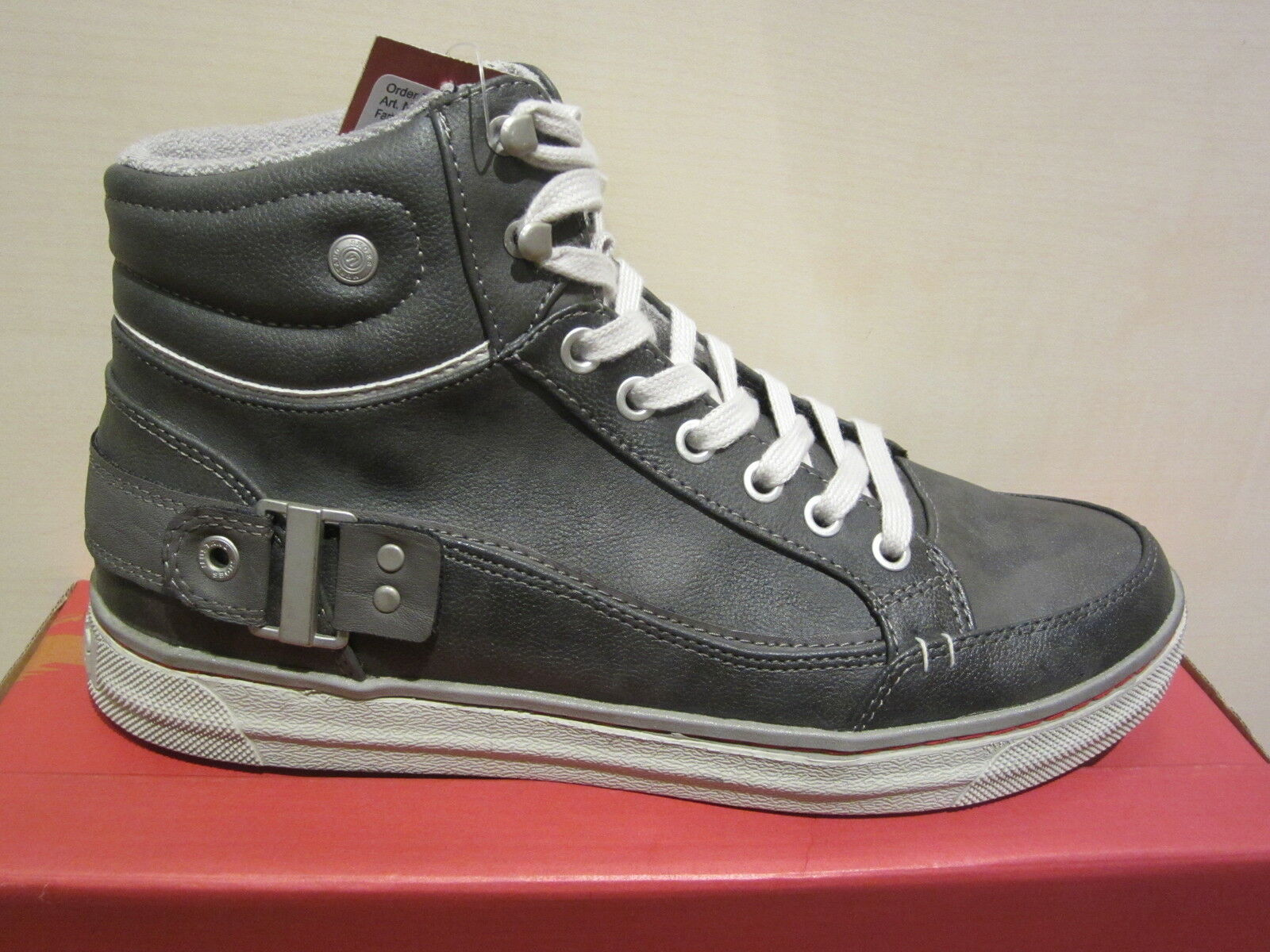 Mustang botas de Cordón, gris, Forro Tela 4068 Nuevo