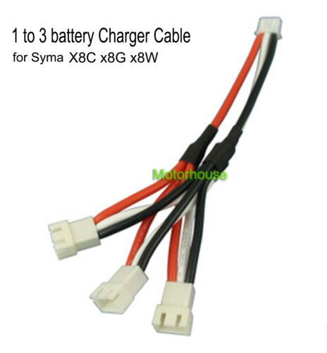 Convertisseur 1to3 Câble de charge F Syma X8C X8W X8G X8HC X8HW 7.4 V Chargeur de Batterie