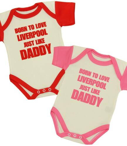 BabyPrem Baby Clothes Boys Girls Me Daddy Love LIVERPOOL One-Piece Creeper Vest
