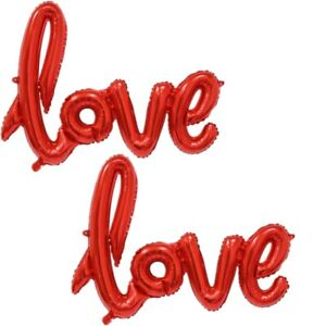"2 Stück Aufblasbarer Folienballon Luftballon Ballon Deko ""love"" Ca Party- & Eventdekoration Feste & Besondere Anlässe 36 X 54 Cm"