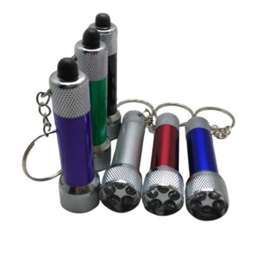Ultra-bright CPT 5 Led Key Ring Keyring Torch With Batteries Pocket Flashlight