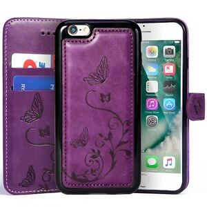 iPhone 6 / 6S Wallet Leather Case with 2 in 1 Detachable Slim Case Women's Vi...