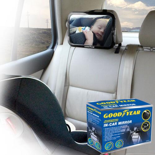 Goodyear Adjustable Wide View Rear//Baby//Child Seat Car Safety Mirror Headrest