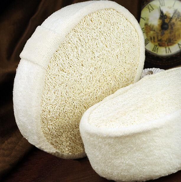 1PC Natural Loofah Luffa Bath Shower Sponge Spa Body Scrubber Exfoliator Pad