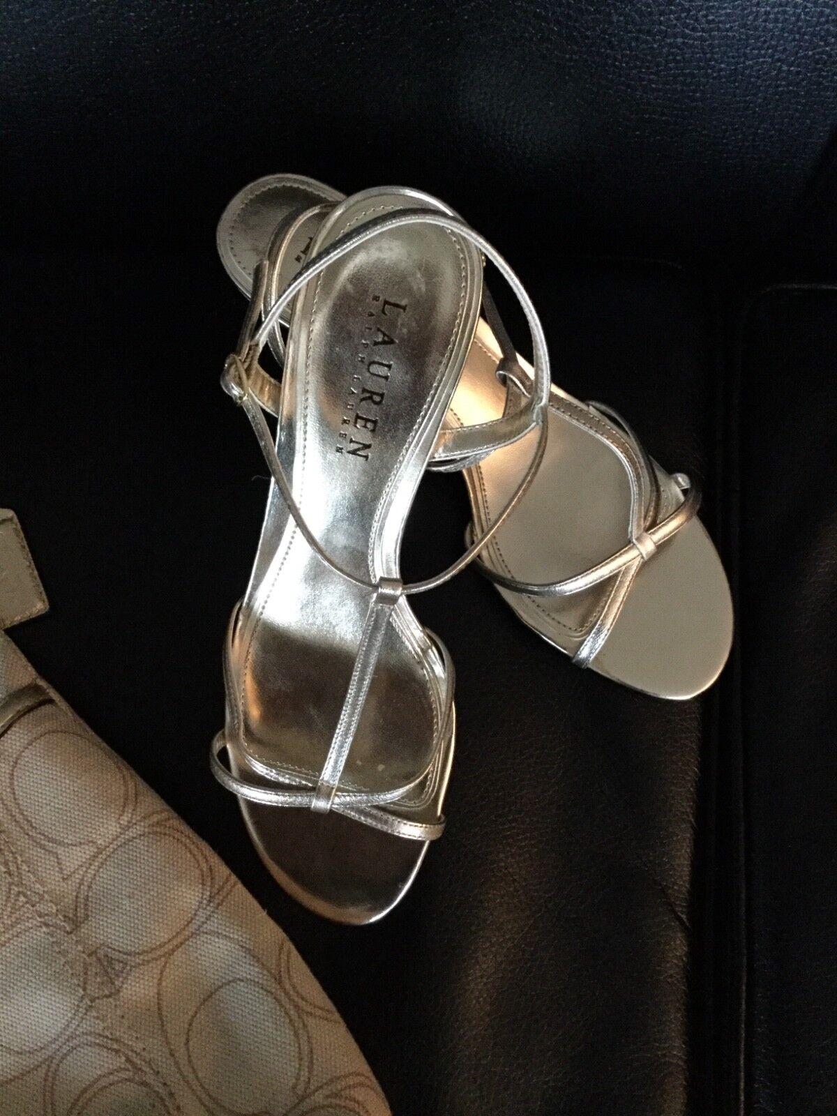 Ralph Lauren Women shoes NYAH gold leather size 7B