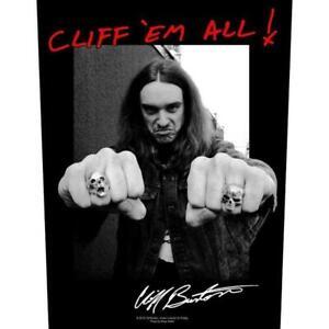 Metallica-Official-Officiel-Patch-Arriere-Cliff-Em-All-Burton-en-Memoire