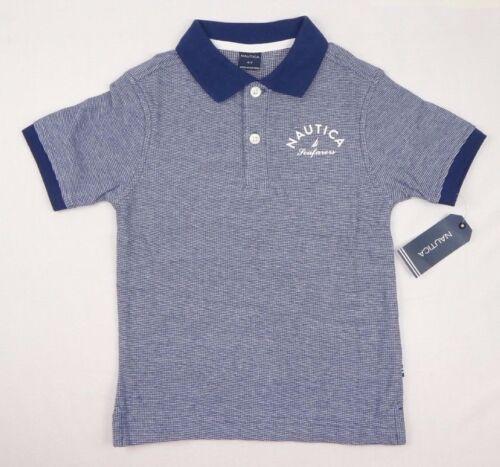 Nautica Boys/' Short Sleeve Mini Stripe Logo Polo sizes 2 4,5//6,7X