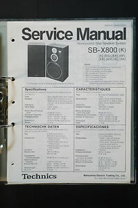 technics sb x800 original speaker service manual service manual rh ebay com technics speaker wiring diagram technics 1210 wiring diagram