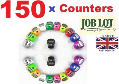150 X CONTADOR DIGITAL Finger Ring Tally Contador de filas versos Trabajo Lote al por mayor