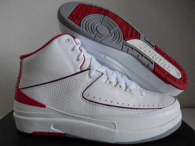 quality design 05b28 dafed 2014 Nike Air Jordan 2 Retro OG Sz 8 White Black VRSTY Red Cement GRY  385475102
