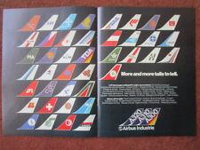 2/1982 PUB AIRBUS A300 A310 A320 TAILS PIA MEA AIR AFRIQUE SABENA TOA LAKER AD