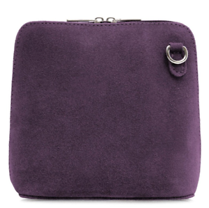 Ladies-Italian-Leather-Small-Suede-Cross-Body-Shoulder-Bag