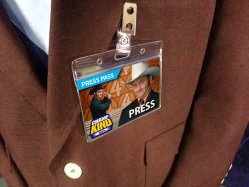 Ron Burgundy Halloween Costume Corningstone Press Pass ID Name Badge AnchorMan