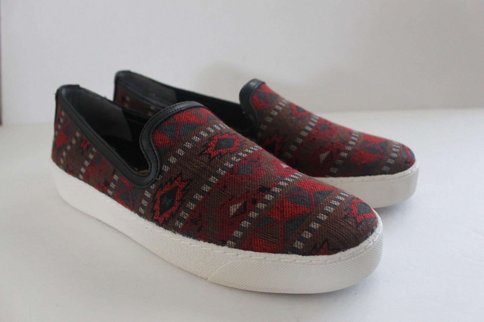 Sam Edelman para mujer M Zapatillas Rojo Multi Estampado Tribal Casual Zapatos de la sandalia