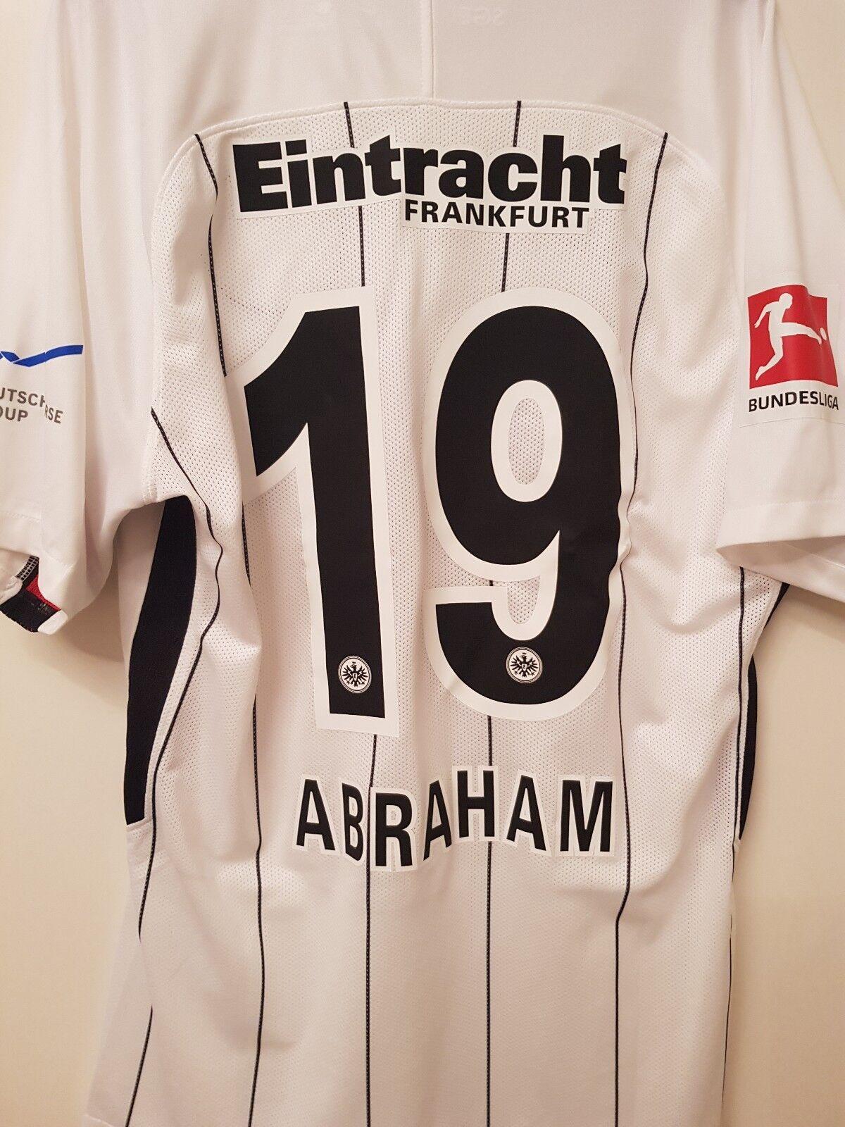 Eintracht Frankfurt Trikot Matchworn Abraham Spieletrikot SGE