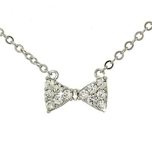 4f7d362e49a9b Details about W Swarovski Crystal Bow Tie Party Pendant Necklace Jewelry  Gift