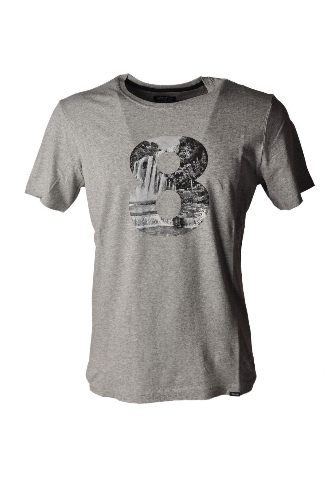 Woolrich - Topwear-T-shirts - Man - Grau - 4892310H184352