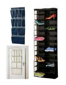 Image Is Loading 30 Pocket Pair Over Door Shoe Rack Organiser