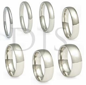 image is loading 316l stainless steel ring plain wedding band men