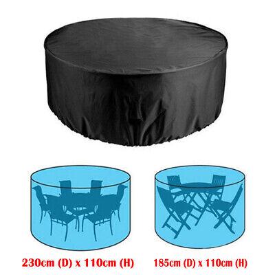 Rund Tisch Stuhl Set Möbel Schutz Abdeckung Außen Terrasse Wasserdicht