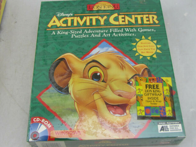 NEW - Disney's The Lion King Activity Center (Windows/Mac, 1995) Sealed Big Box