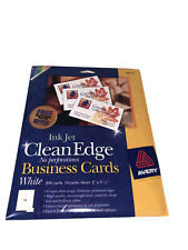 Avery Clean Edge White Business Cards 8871 Ink Jet 2 X 35 160 Total