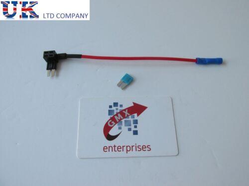 satnav dash cam 1 x piggy back fuse add a circuit micro2 blade fuse holder
