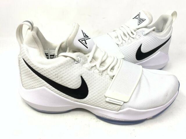 los angeles 55148 133a0 NEW! Nike Men's Paul George 1 Basketball Shoes Lace Up White #878627-100  160X tz