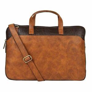 Vivinkaa 15.6 Inch Faux Leather Shoulder Sling Laptop Unisex Messenger Bag