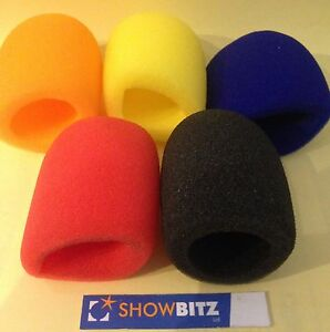 Microphone-foam-Pop-Windshield-5-coloured-pieces-red-blue-orange-yellow-black