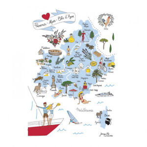 Torchons-amp-Bouchons-French-PROVENCE-Olive-Oil-Food-Lavender-Boat-Kitchen-Towel