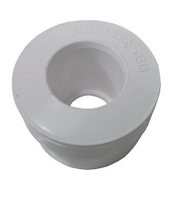 White Dia Floplast Compression Waste Overflow /& Hose Connector 40mm