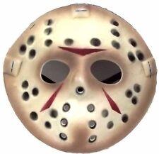 Jason Vorhees Face Friday the 13th Hockey Mask Killer Halloween Costume NEW