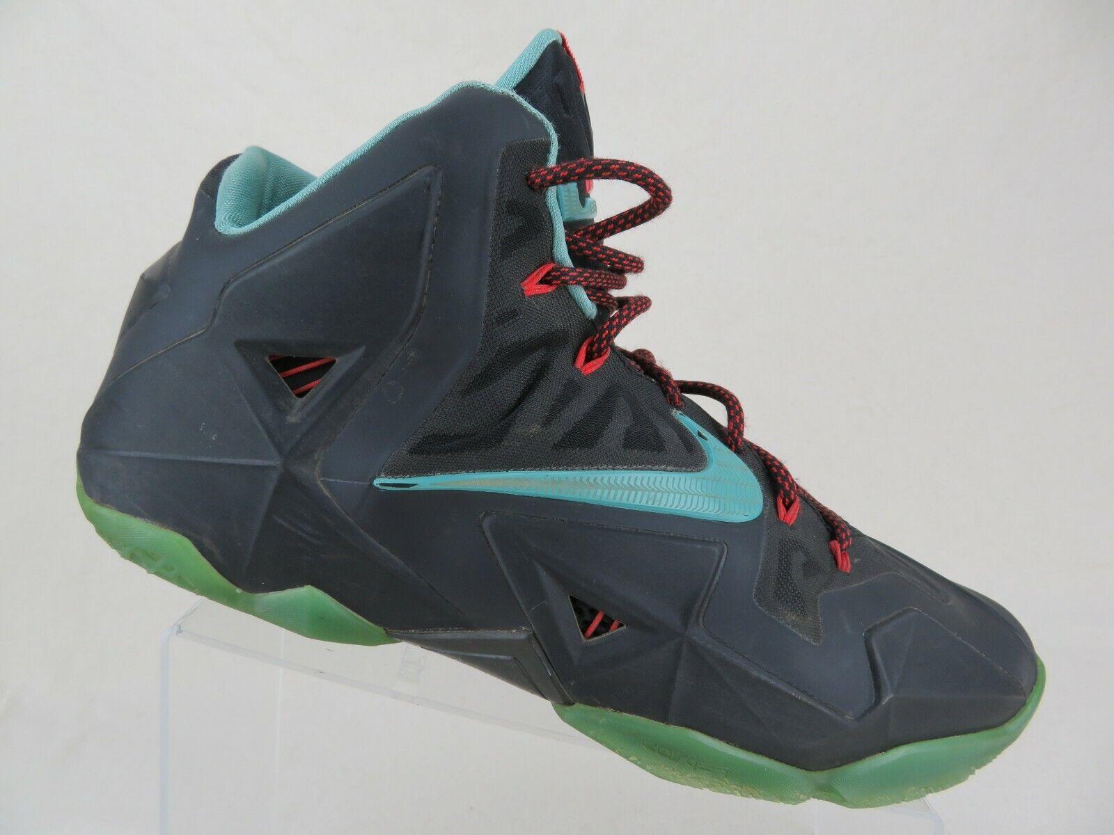 NIKE Lebron 11 XI Black Sz 13 Men South Beach Basketball shoes