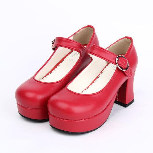 Gothic Goth Lolita Love Live Schuhe Shoe Pumps High Heels Plateau Cosplay Kostüm