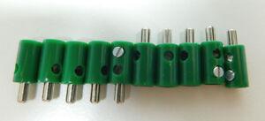 10-Stecker-GRUN-z-B-fuer-Maerklin-H0-Modellbahn-oder-N-TT-etc