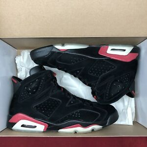77197740b75 Nike Air Jordan Retro VI Varsity Red Black 384664 061 Size 12 ...