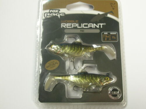 Fox Rage Wobble Replicant 7.5cm 2pk ALL COLOURS Fishing tackle