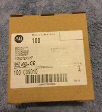 New! Allen-Bradley 100-C09D10 Contactor, 110/120V, 1 N.O. AUX CON, 3 Main Poles