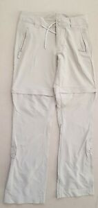 Womens-North-Face-Beige-Walking-Trousers-Zip-Off-Shorts-EU4-W30-L33