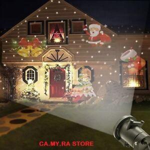 Proiettore Luci Natalizie Per Esterno Negozio.Dettagli Su Proiettore Luci Di Natale Esterno Natalizie Faro Laser Immagini Illuminazione