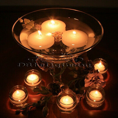 40 Round Unscented Floating Candles For Romance Wedding Party Bar Home Decor