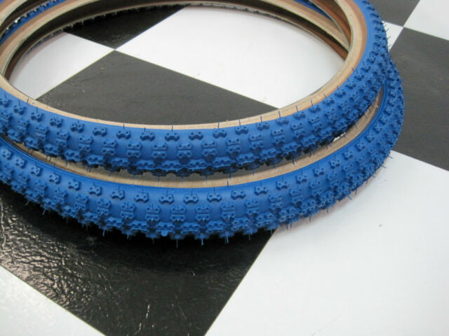 2 Blue SKIN WALL 20 x 2.125 CHENG Bicycle TIRES for Old School Mongoose BMX Bike