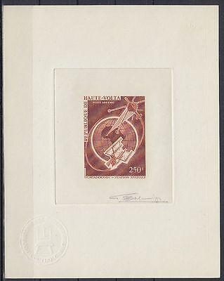 Obervolta Haute Volta 1966 ** Mi.187 Epreuve Artiste Signée Essay Weltraum Space Volumen Groß Afrika