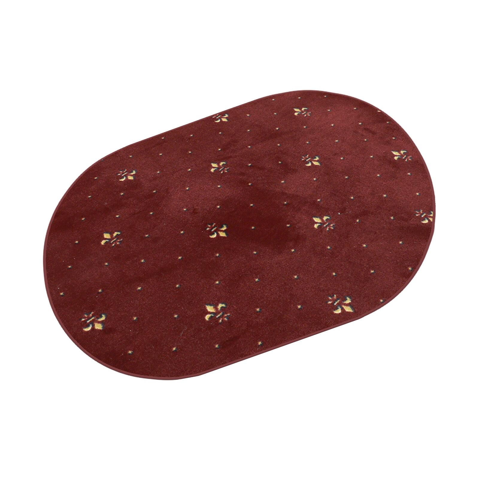 Fleur Hotel rot HEVO ® Kettel Teppich Vintage Muster 200x280 cm Oval