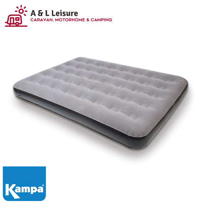 Kampa Airlock Double Flocked Airbed Camping Mattress
