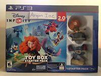 Disney Infinity 2.0 Toy Box Starter Pack Ps3 Kids Game Bundle Sealed