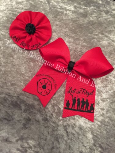royal british legion Remembrance day poppy bow,Armistice day lest we forget